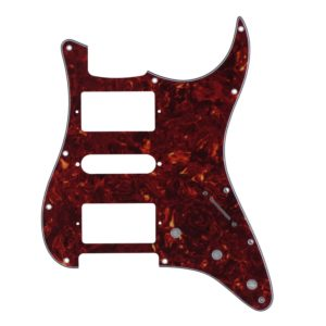 Red Tortoise HSH Humbucker Pickguard by Guitar Anatomy