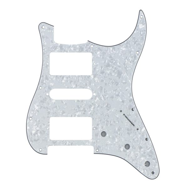 White Pearl HSH Humbucker Pickguard by Guitar Anatomy