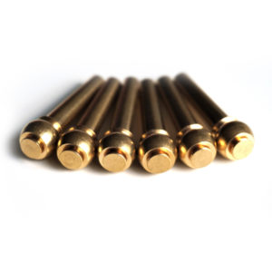 Brass flat top bridge pins by Guitar Anatomy