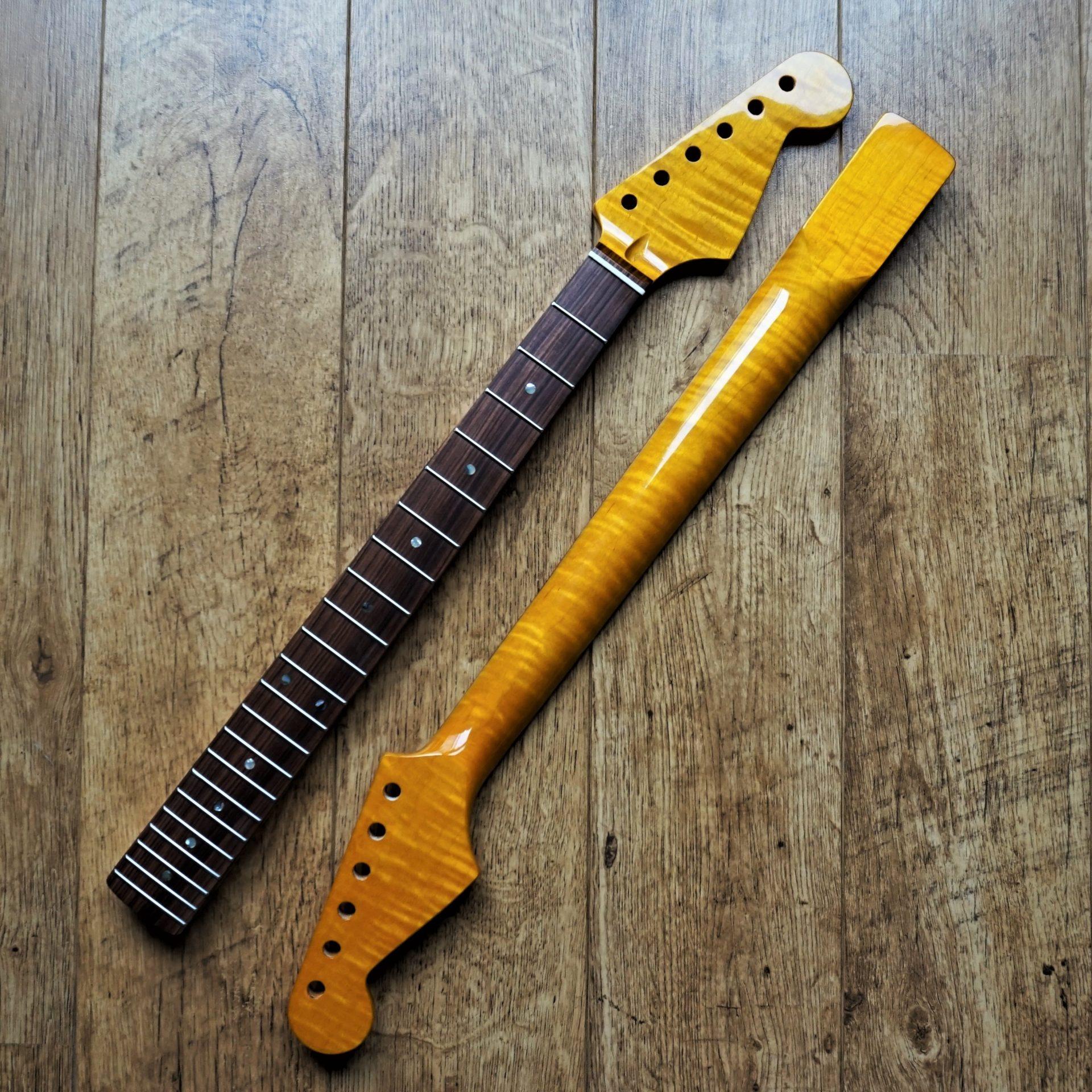 stratocaster kabukalli and flame maple guitar neck abalone guitar anatomy. Black Bedroom Furniture Sets. Home Design Ideas