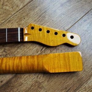 Telecaster kabukalli FLAME MAPLE Guitar Neck by Guitar Anatomy