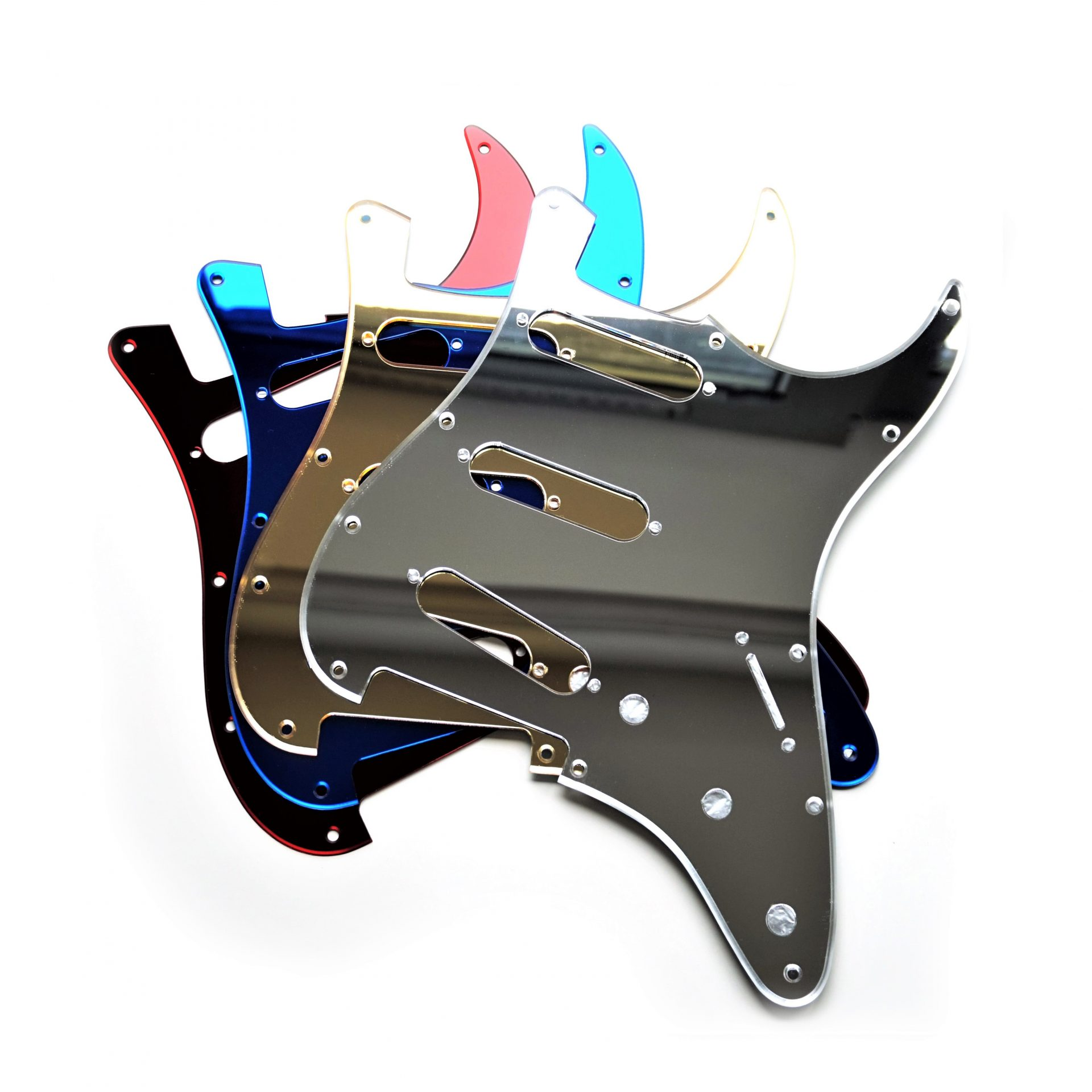 Mirror Stratocaster Pickguard Scratchplate Guitar Anatomy