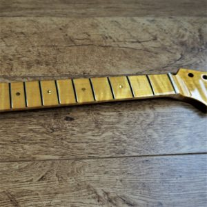 Flame maple guitar neck by Guitar Anatomy