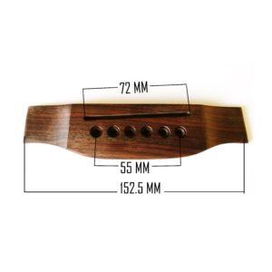 Acoustic guitar bridge by Guitar Anatomy