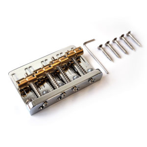 Bass bridge brass by Guitar Anatomy
