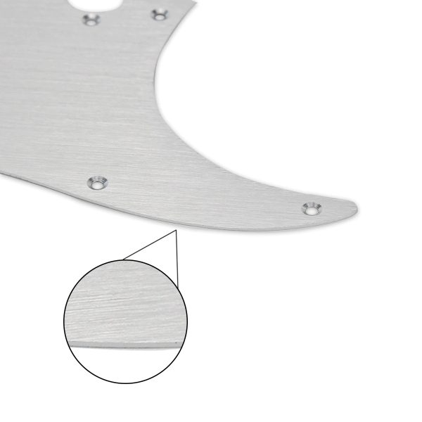 Brushed Aluminium Scratchplate By Guitar Anatomy