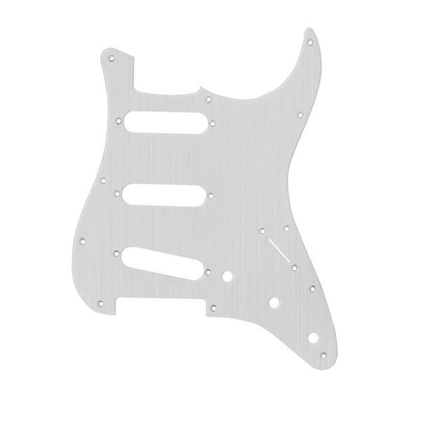 Brushed Aluminium Scratchplate By Guitar Anatomy