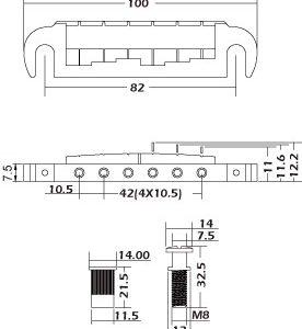 Les Paul Wrap-around Bridge by Guitar Anatomy