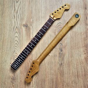 Stratocaster Roasted Flame Maple Guitar Neck - Guitar Anatomy