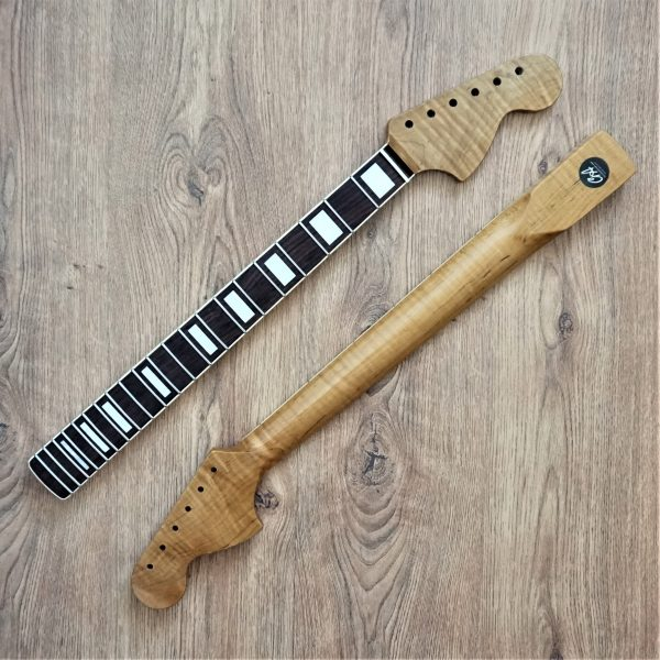 Roasted Flame Maple Stratocaster Guitar neck by Guitar Anatomy